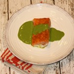 Melt-In-Your-Mouth Salmon With Creamy Cilantro Sauce