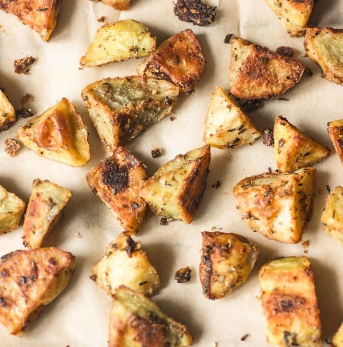 Crispy Spicy Roasted Potatoes