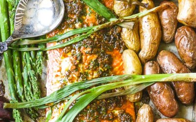 Roasted Salmon Sheet Pan Dinner