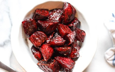 pomegranate glazed beets