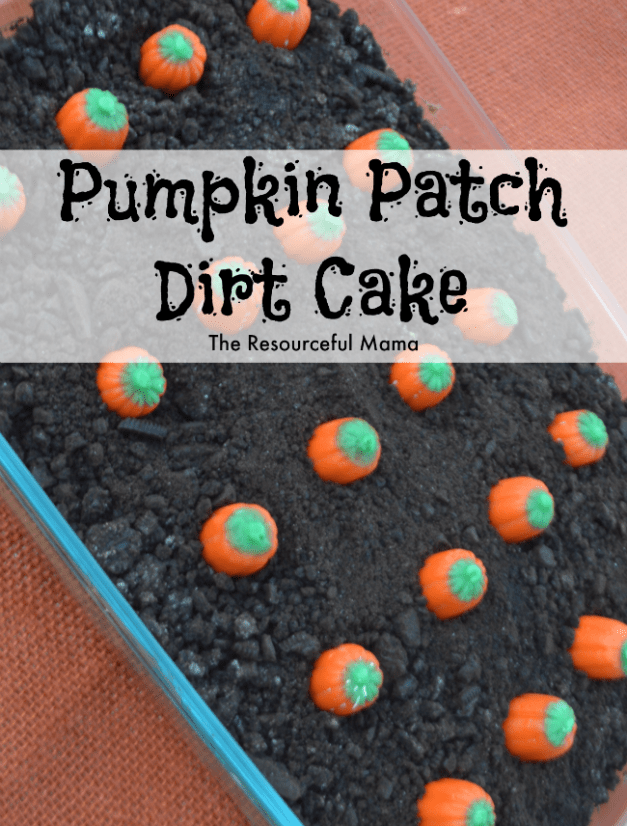 Pumpkin Patch Dirt Cake is a quick and easy no bake dessert for family dinners and gatherings this fall.