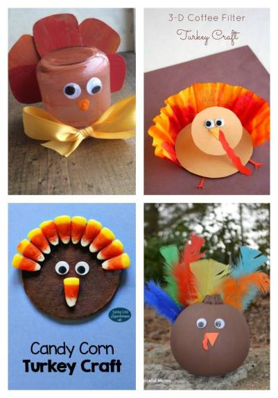 Thanksgiving turkey kid crafts made for kids link party