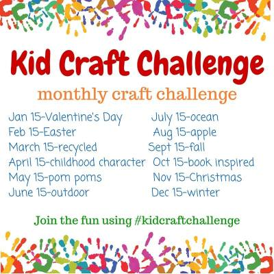 Monthly Kid Craft Challenges