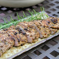 Grilled Pork Tenderloin with Black Peppercorns and Rosemary