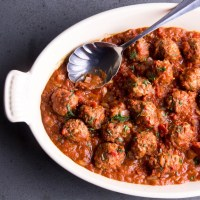 Saucy Beef and Lamb Meatballs
