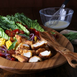 Tarragon Salad with Southern Fried Chicken