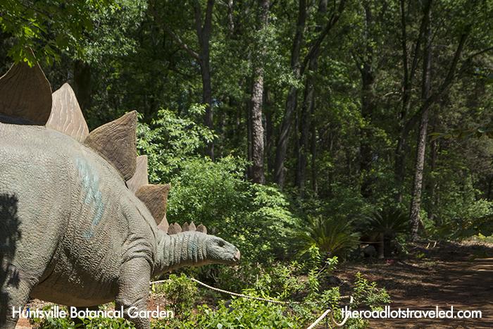 Dinosaur in Huntsville Botanical Garden