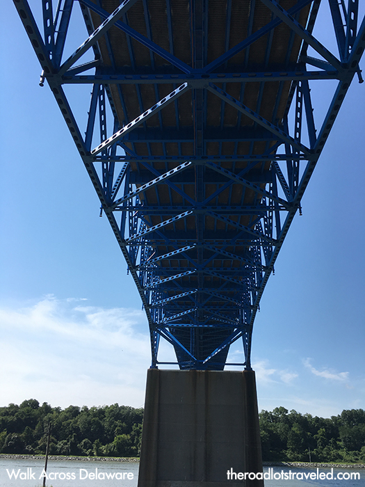 Under a bridge over the Chesapeake and Delaware Canal