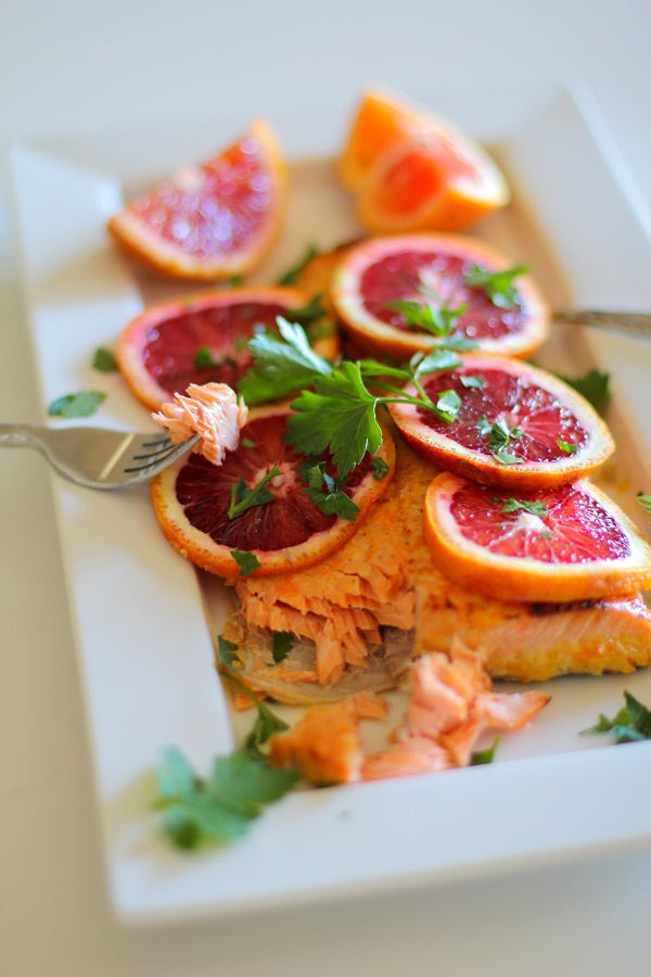 Paleo Roasted Salmon with Orange-Ginger Glaze