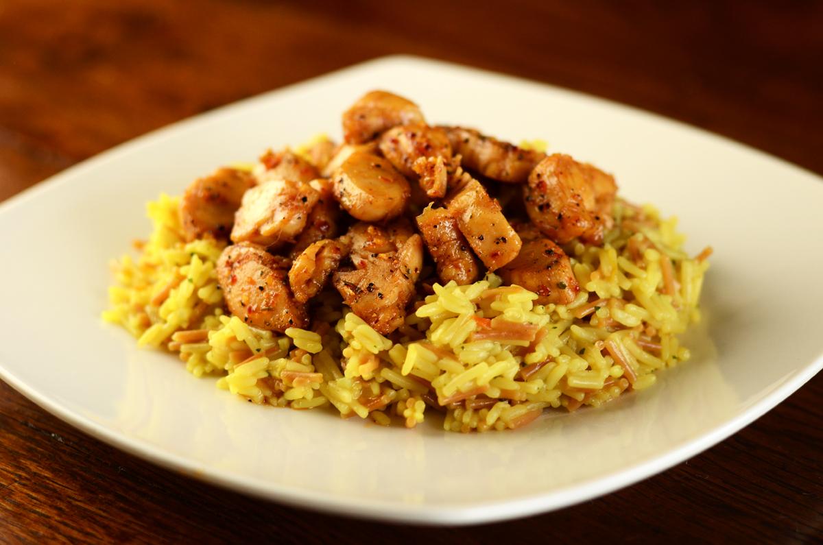 Brown Sugar Bourbon Chicken and Rice Recipe
