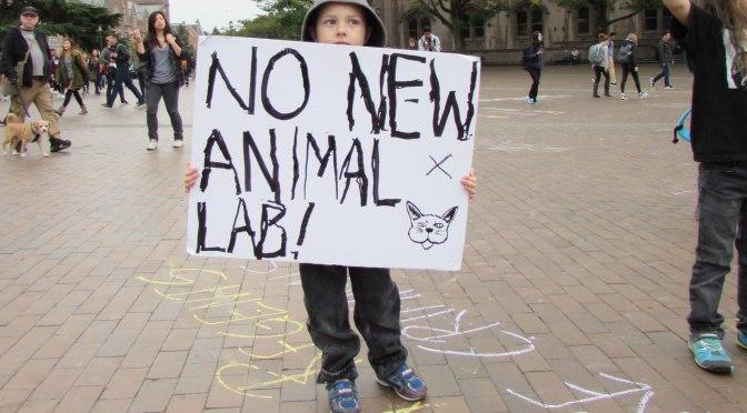Dawgs Demonstrate Against Animal Testing