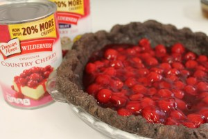 Add cherry pie filling.