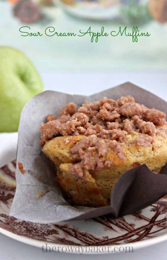Sour Cream Apple Muffins - The Rowdy Baker