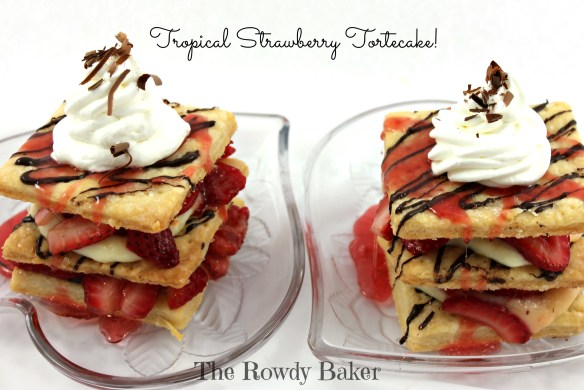 Tropical Strawberry Tortecake - The Rowdy Baker