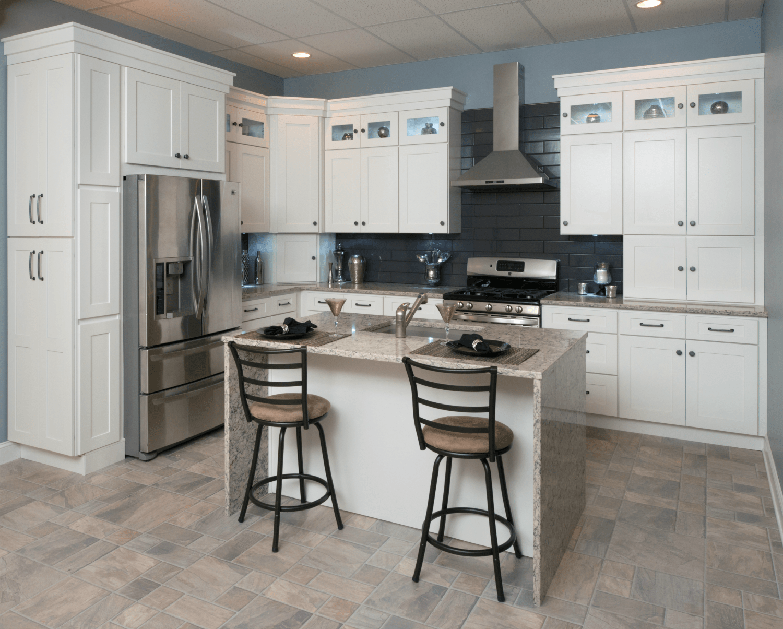 shaker kitchen cabinets prefab kitchen cabinets ALL WOOD Kitchen Cabinets Frosted White Shaker RTA FREE SHIPPING