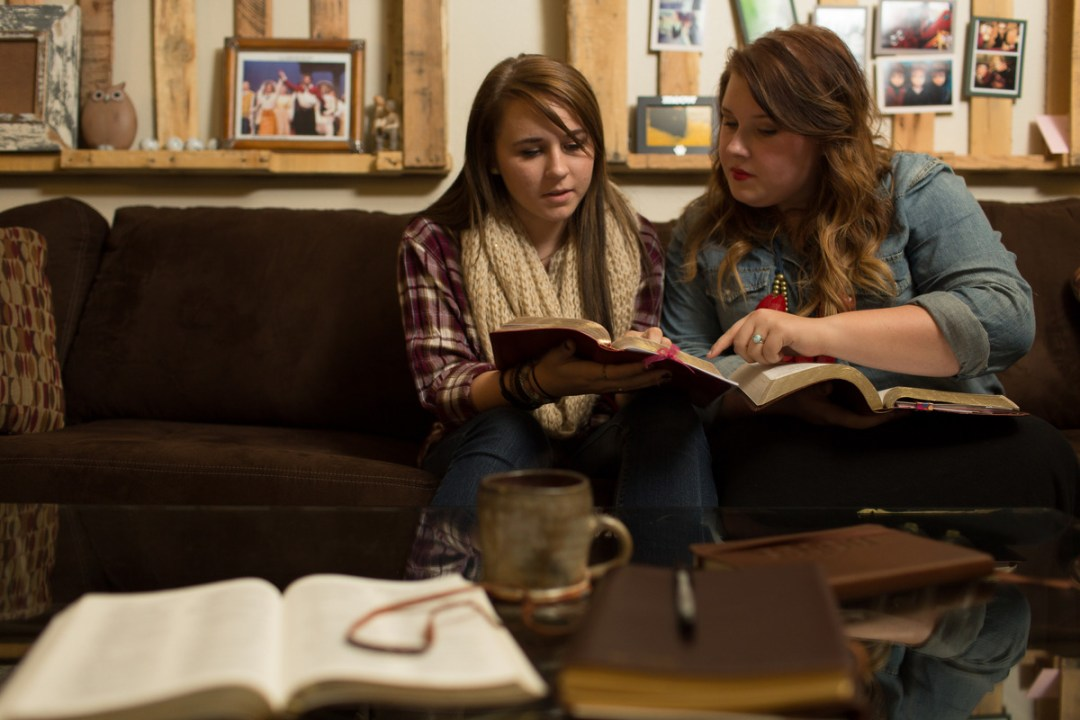 Friends Reading The Bible