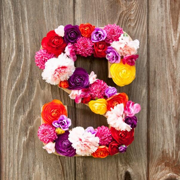 DIY Flower Initial/Letter
