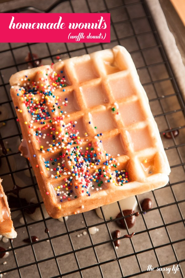 Homemade Wonuts (Waffle Donuts)