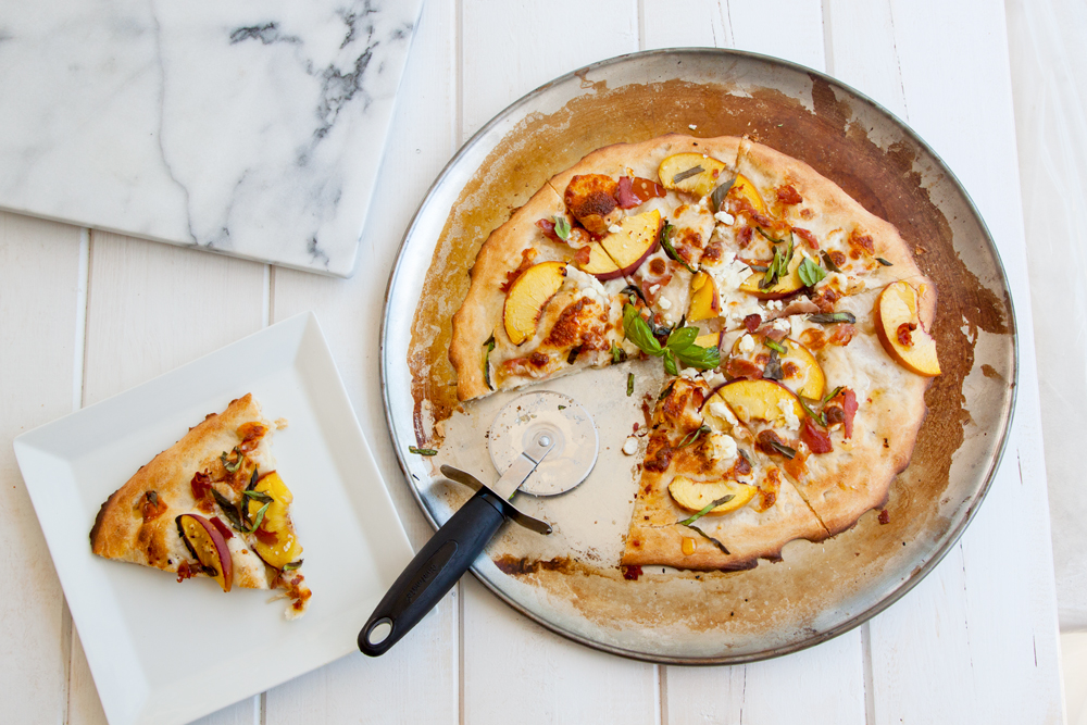 Peach & Prosciutto Pizza | thesassylife
