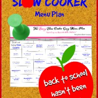 Slow Cooker Family Friendly Menu Plan - September