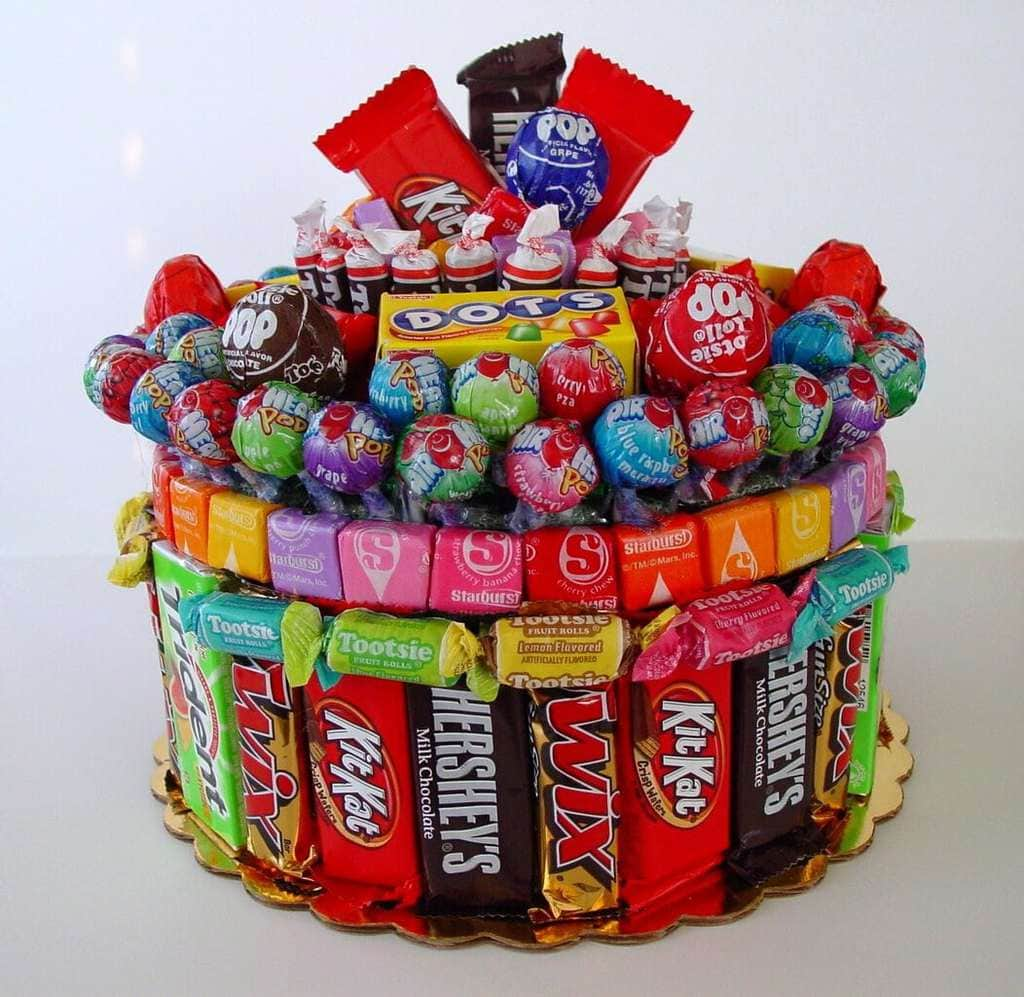 Ordinary Candy Craft Ideas For Christmas Part - 8: DIY Candy Cake