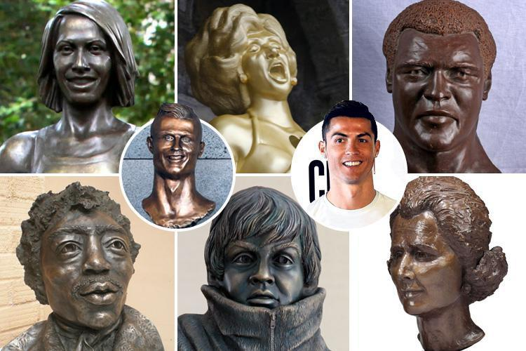 After Ronaldo's dodgy bronze bust, can you guess who's behind some of the world's worst statues