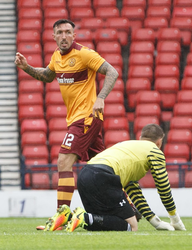 Motherwell frontman Ryan Bowman hopes his scoring run will edge him ahead of Alex Fisher and ...