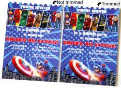 Small Of Superhero Birthday Invitations