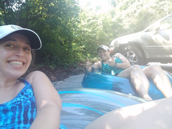 Tubing in the parking lot