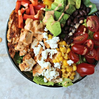 Chopped Chicken Salad with Chipotle Dressing