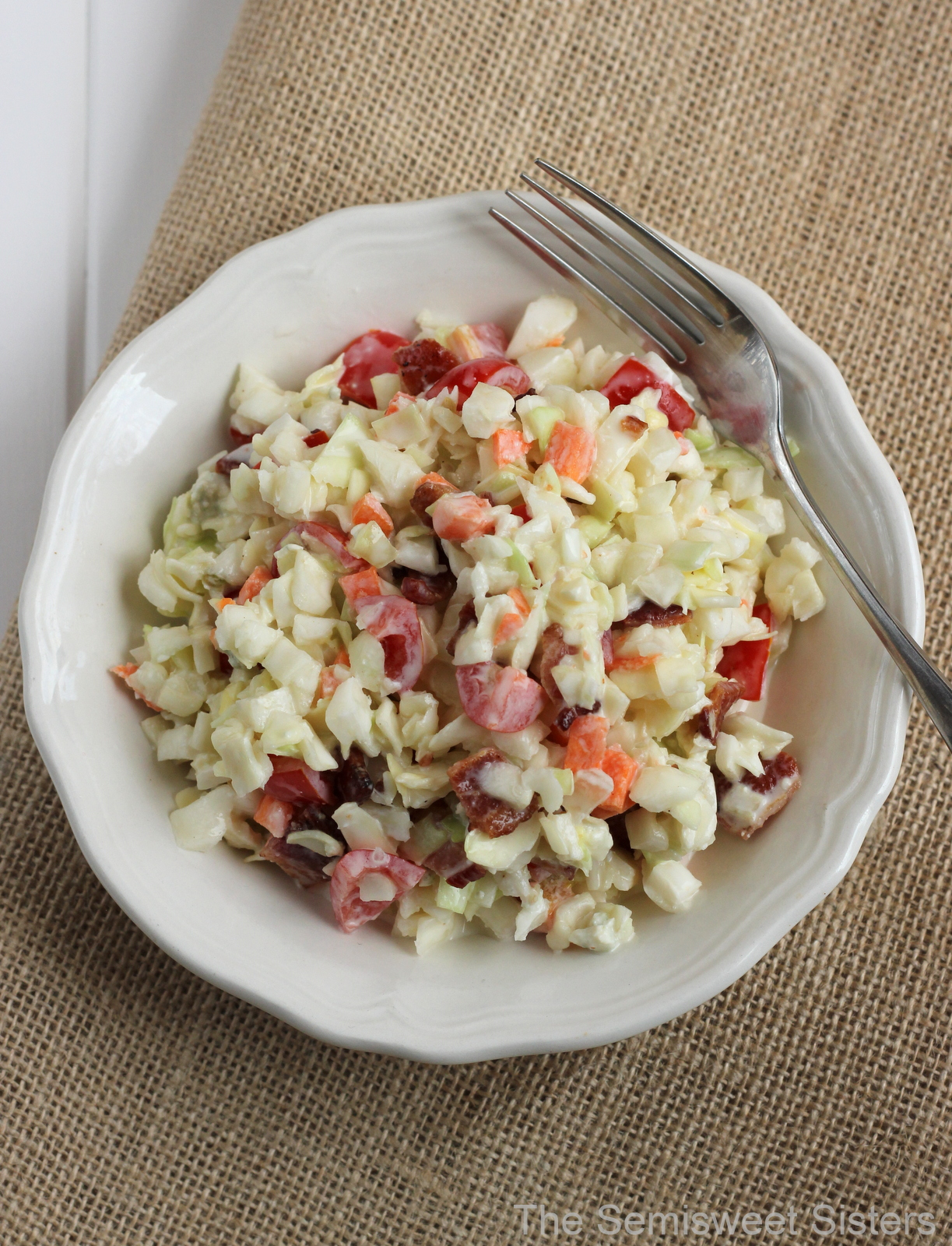 Creamy Coleslaw With Bacon And Blue Cheese Recipes — Dishmaps