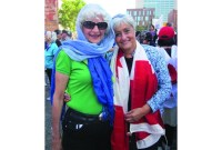 """I would love to see somebody like Madame Marois walk into a hospital and refuse treatment from a doctor wearing a religious symbol. Do I think that would happen? Never. The cross on Mount Royal will not be taken down. What's right for some is right for everybody."" ~ Anita Blanshay (right), lifelong volunteer"