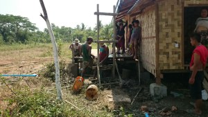 Digging a well in Myanmar 2
