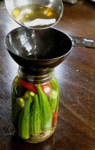 Pickling okra is a snap