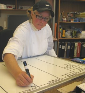 Sous chef Joan Gallagher
