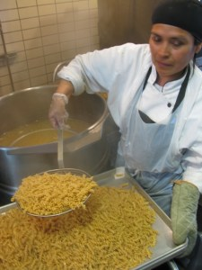 Roxanne making pasta
