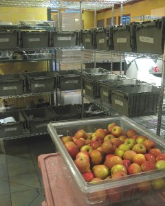Apples and breakfast bins