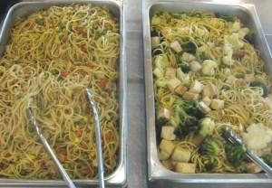 Lo mein: kids would rather skip the veggies