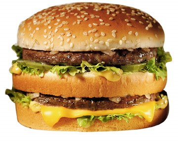 Guess which part of this burger makes you fat