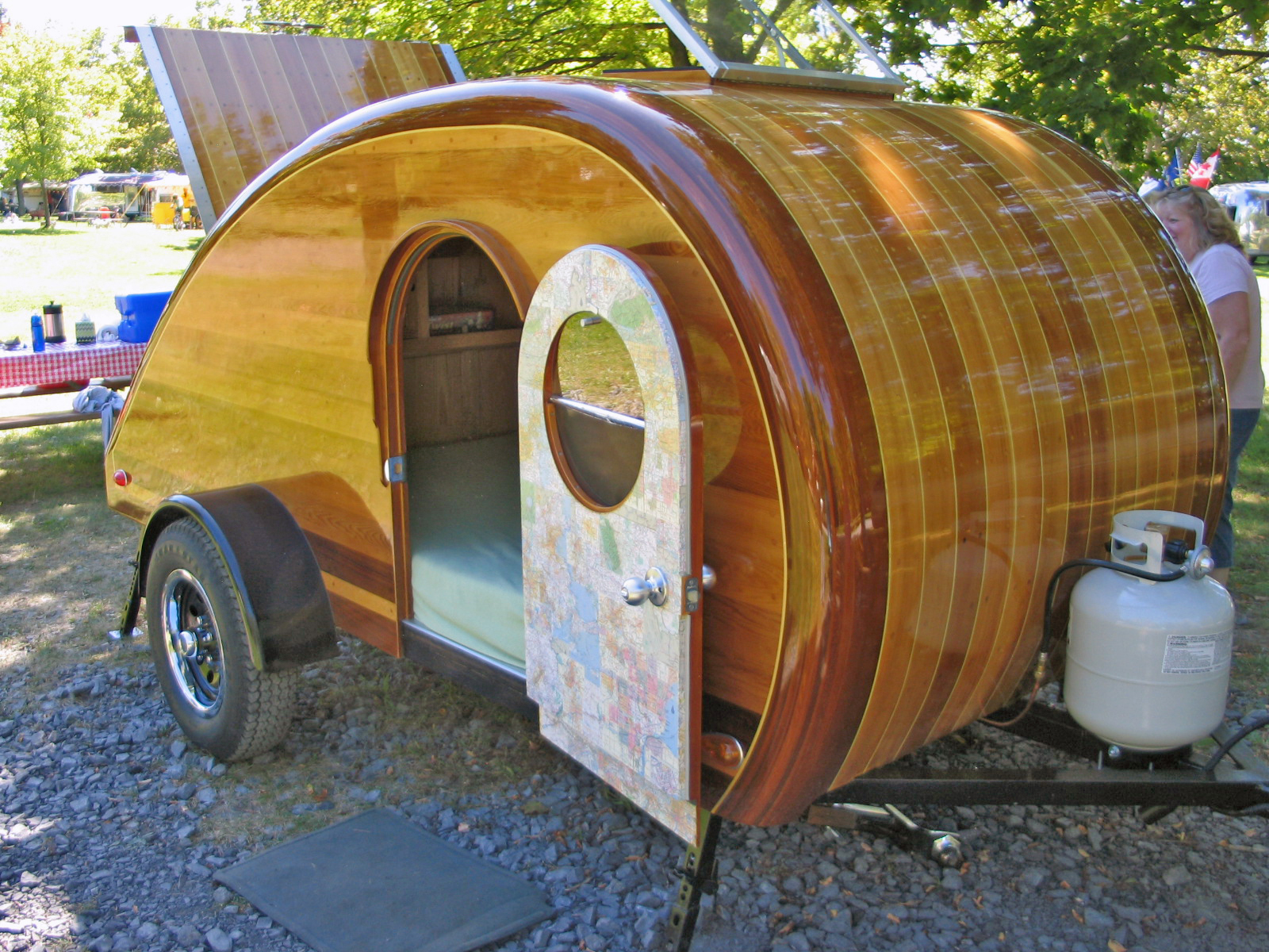 small camping trailer beautiful homemade wood teardrop camping trailer - Small Camper Trailer