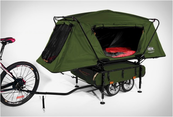 small camping trailers go cross country on a bike - Small Camper Trailer