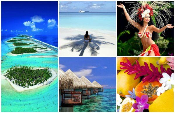 Tahiti Collage