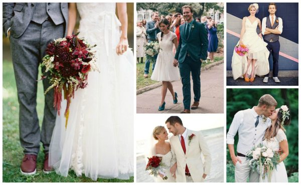 Bride and Groom Collage