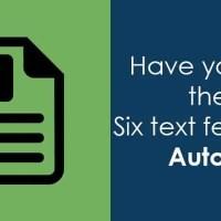six autocad text tips