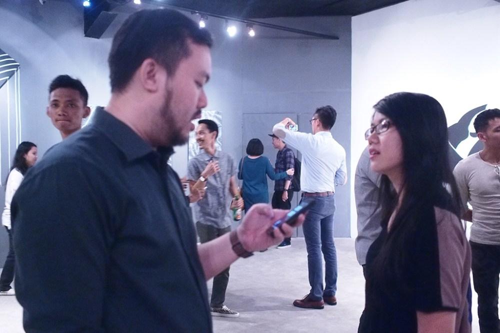 Sunny Gho and Johana Kusnadi in a discussion