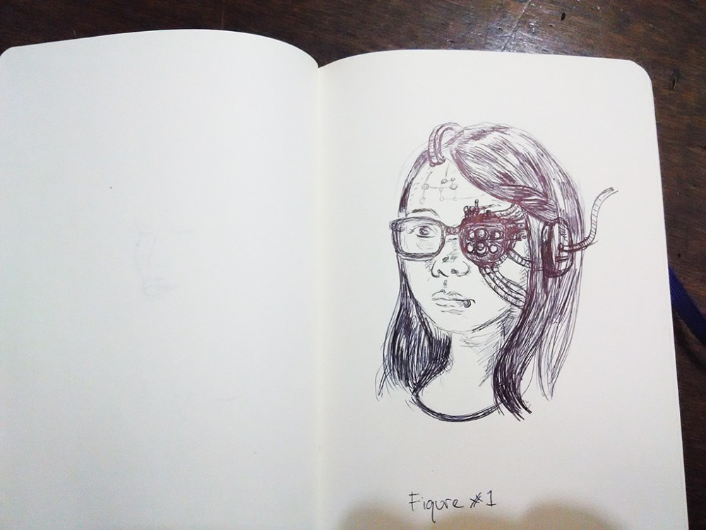 a pen sketches session