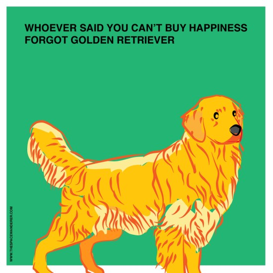 whoever said you can't buy happiness, forgot golden retriever