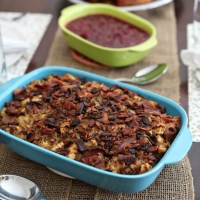 Friendsgiving: Bacon and Baguette Stuffing