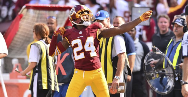 Josh Norman was penalized for this. (photo, ngngsports.com)