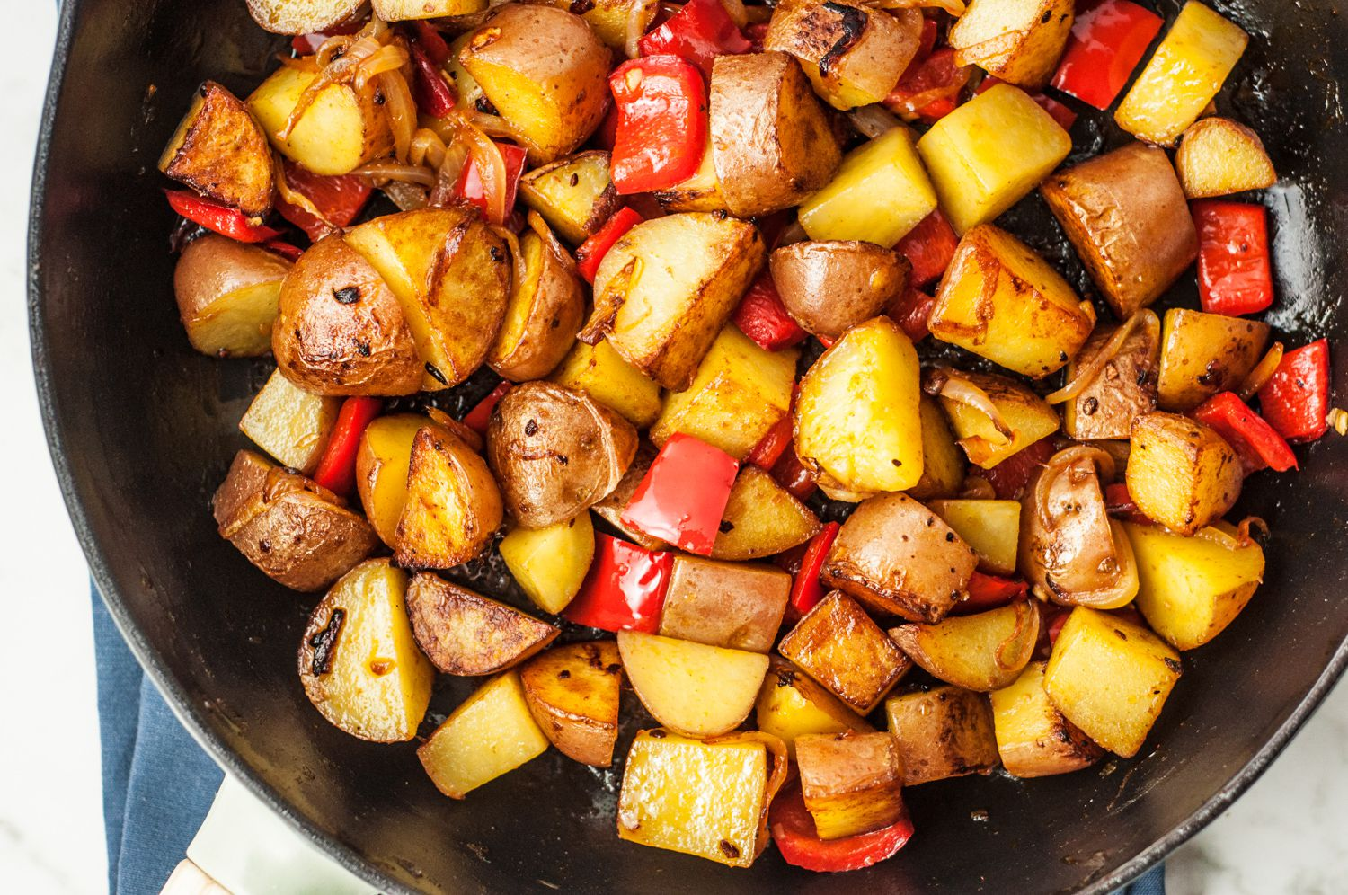 Fantastic Easy Skillet Fried Potatoes 3059718 Step 2 5ba024b146e0fb0025810781 Fried Red Potatoes Oven Fried Red Potatoes Butter nice food Fried Red Potatoes